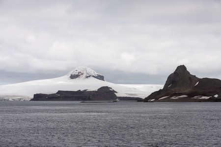 Antarctic landscape with rocks and snow Stockfoto