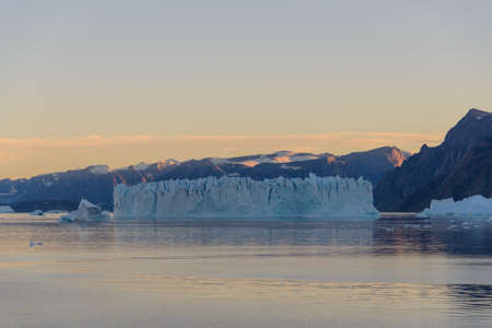 Beautiful landscape with iceberg in Greenland at summer time. Sunny weather.