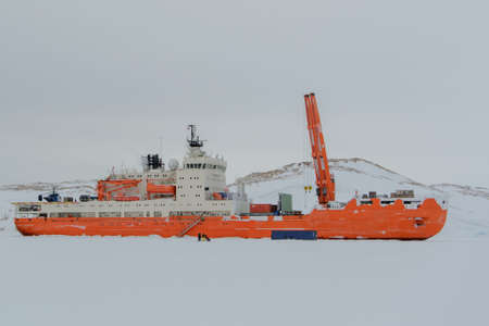 Expedition ship in the ice