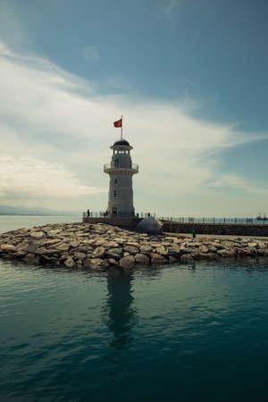 destinos: Turqu�a, Alanya, Faro, Destinos tur�sticos, Torre, Naturaleza Foto de archivo