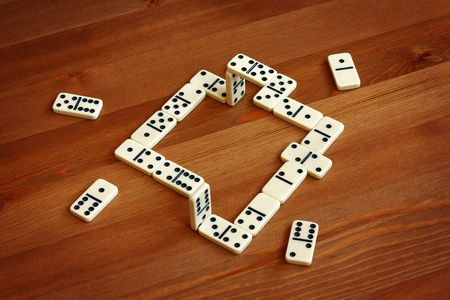 Unreal domino, illusion Stock Photo