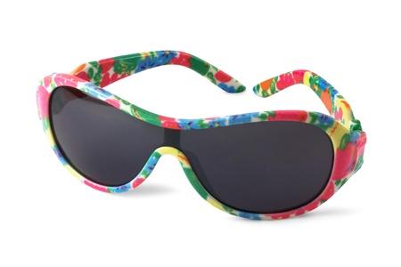 Lustige childs Sonnenbrille auf weißem Hintergrund Standard-Bild - 12908609