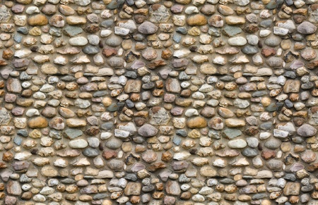 Cobblestone wall seamless background photo