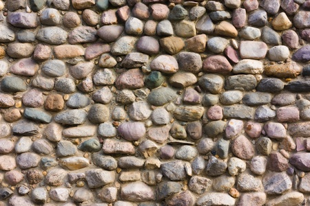 Colored cobblestone wall background Stock Photo - 13634392