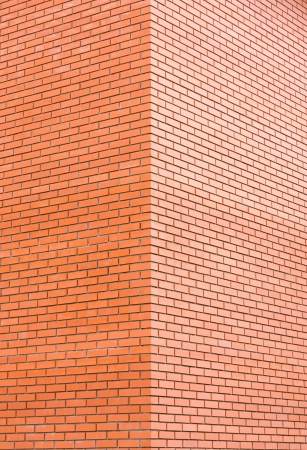 Dirty red brick corner background Stock Photo - 13634384