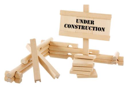 Under construction unfinished wooden house isolated on white Stock Photo - 13837042