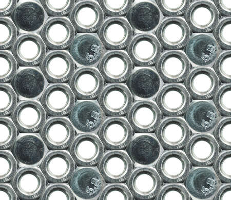 Steel female screw and screw heads seamless industrial background photo