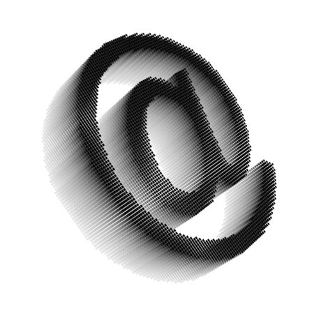Black pixel icon-like three-dimensional image of email symbol on white background in diagonal view Stock Photo - 16460130