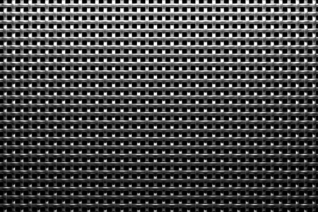 Braided wire steel grid with reflection on black background under the top straight light, abstract textured background Stock Photo - 18231811