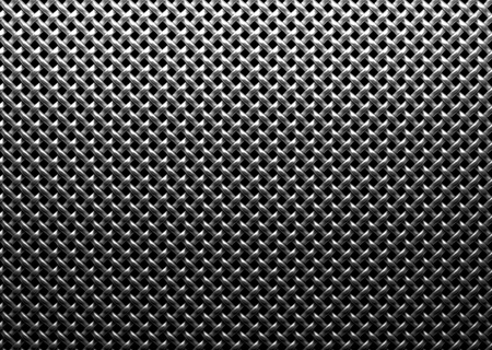 Braided wire steel grid diagonally oriented with reflection on black background under the top straight light, abstract textured background Stock Photo - 18231668