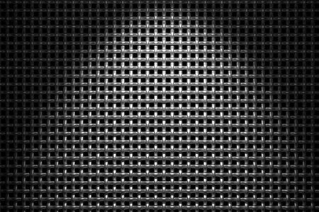 Braided wire steel grid with reflections on black background under the spot light, abstract textured background Stock Photo - 18231693