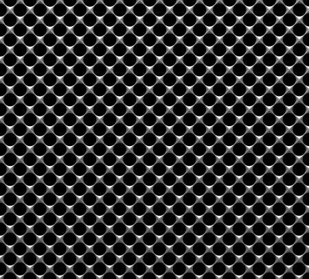 Steel grid with round holes and reflection industrial abstract textured background front view photo