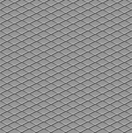 Metallic diamond flooring front view abstract industrial seamless background photo