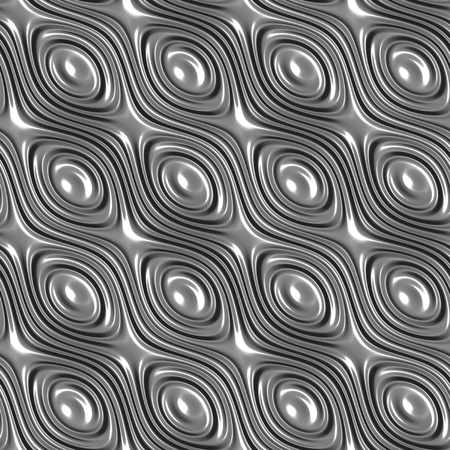 Metal surface with wavy circular periodic decor seamless background photo