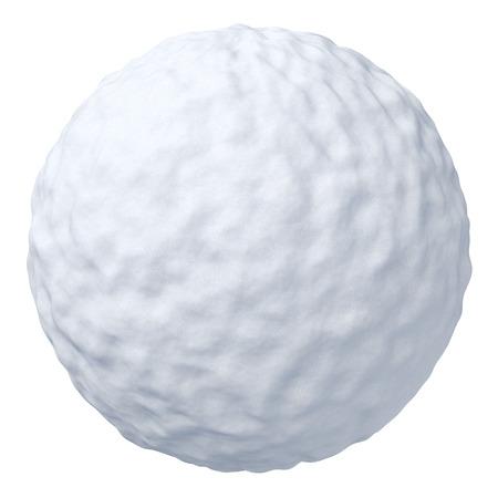 fiambres: Bola de nieve aisladas sobre fondo blanco
