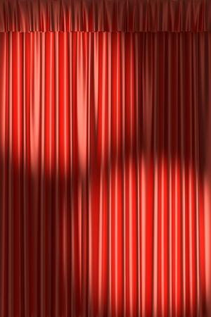 gathers: Teatro tenda rossa con arricciature sotto i due faretti tondi