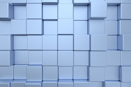 Modern futuristic wall design, abstract technology style decorative cubes construction background photo