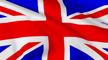 National flag of United Kingdom of Great Britain flying in the wind, 3d illustration  illustration