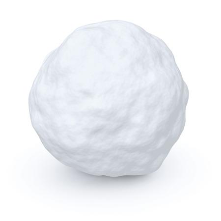 boule de neige: Une boule de neige isol� sur fond blanc