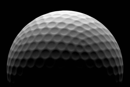 minigolf: White golf ball in the dark, illustration done in low key Stock Photo