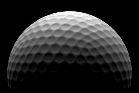 minigolf: White golf ball in the dark, illustration done in low key Stock Photo