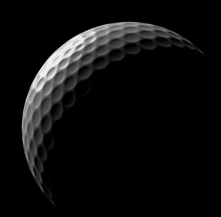 minigolf: White golf ball in dark, illustration done in low key Stock Photo