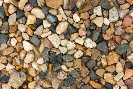 macadam: Colored macadam texture closeup view