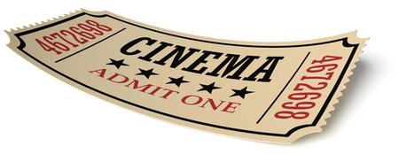 빈티지 복고 영화 크리 에이 티브 컨셉 : 레트로 빈티지 시네마 그림자, 근접 촬영보기, 3d 일러스트와 흰색 배경에 고립 된 노란색 질감 된 종이 만든