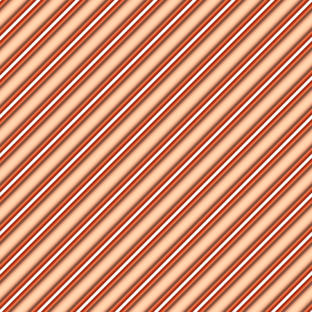 diagonally: Abstract industrial construction seamless background: copper pipes diagonally oriented isolated on white, simple industrial 3d illustration Stock Photo