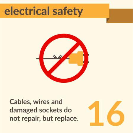 Signo de vector de seguridad y salud ocupacional. Señal de precaución de riesgo de seguridad eléctrica y descarga eléctrica. Foto de archivo - 96633152