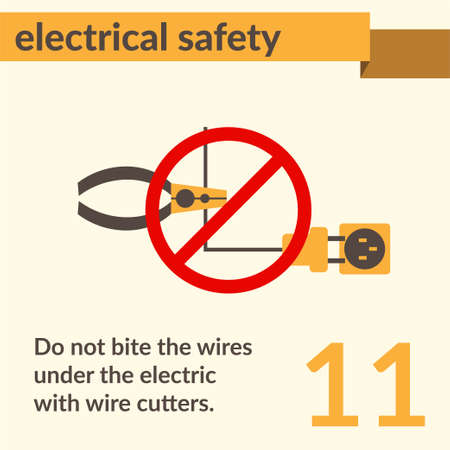 Occupational Safety and Health vector sign. Electrical safety and electric shock risk caution sign.