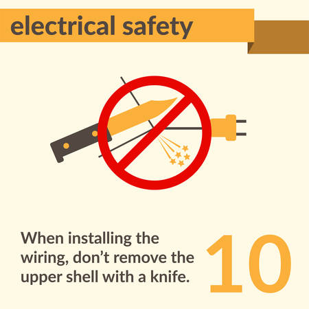 Electrical safety and electric shock risk caution sign.