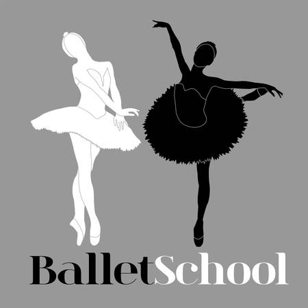 Simple ballet school logotype, will be perfect for banner, poster, web element.