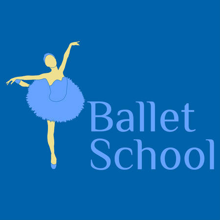 Simple ballet school , will be perfect for banner, poster, web element.