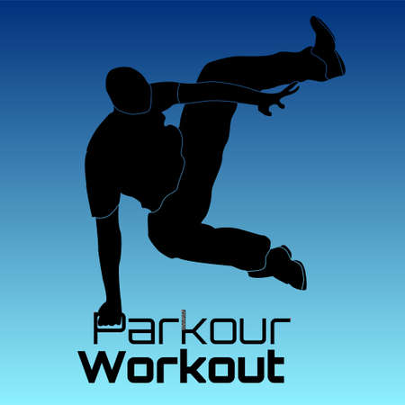 Parkour Practitioner illustration flat vector elements. Will be perfect for t-shirts, textile, banner, postcard, poster.