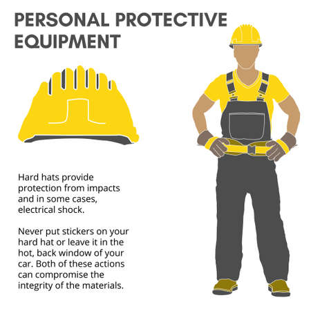 Personal Protective Equipment and Wear set. Will be use for Occupational Safety and Health