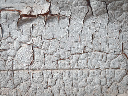 Fragments of the old paint applied on a shabby surface. Stock fotó