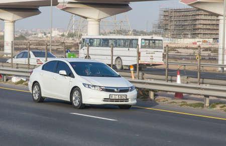 Dubai, UAE February 20, 2018: Honda car drive on the city highway Editorial