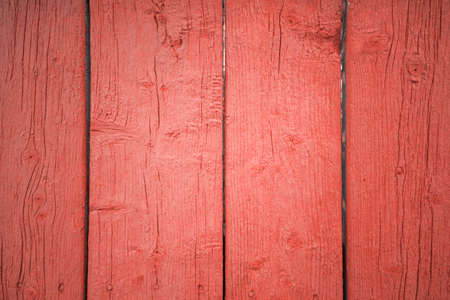 texture of old wooden boards covered in paint. Color of the year 2019 Living Coral Stok Fotoğraf