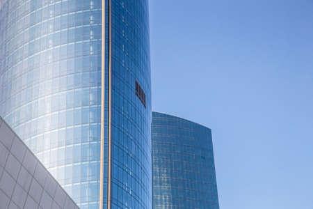 modern business center. Skyscraper in the city. Glass architecture