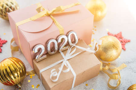Christmas boxes gifts, new years toys and figures 2020.