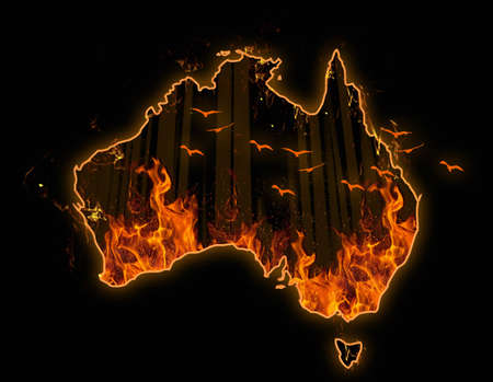 Fire in Australia map