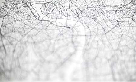 White background. Blurred texture of city map Фото со стока