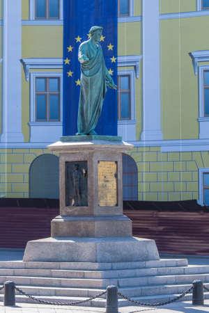 Duke monument in Odessa,Ukraine Stock Photo