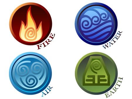 Símbolos de los cuatro elementos