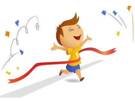 Finishing runner Vector