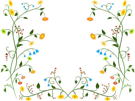Floral flower ornament