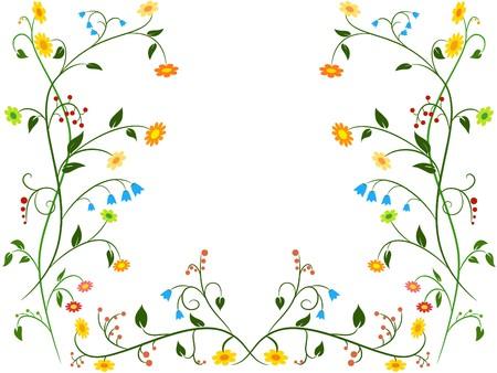 dessin fleur: Ornement floral fleur