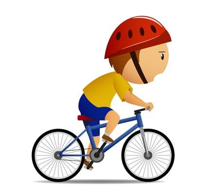 cyclist: Fietser in gele overhemd