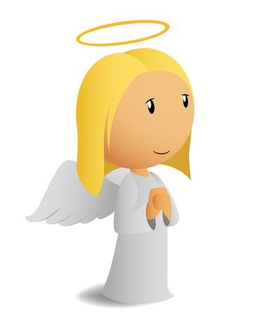 obediência: Rezando anjo